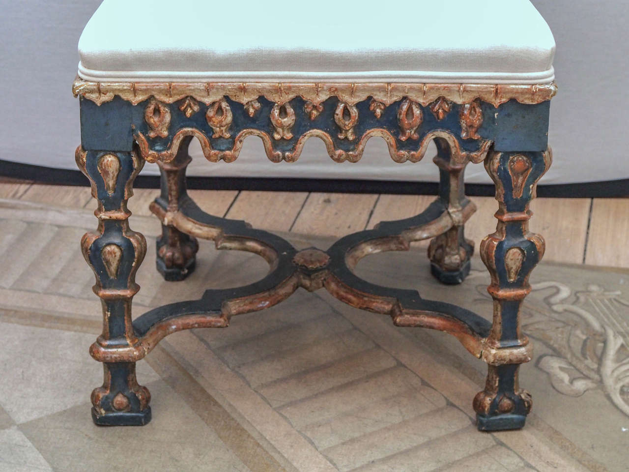 Pair of Italian Baroque Side Chairs 6