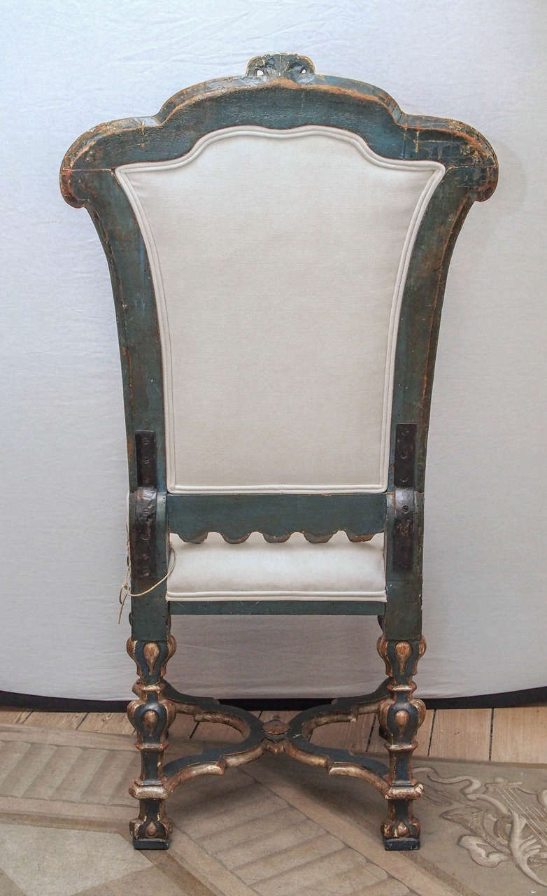 Pair of Italian Baroque Side Chairs 8