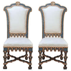 Pair of Italian Baroque Side Chairs