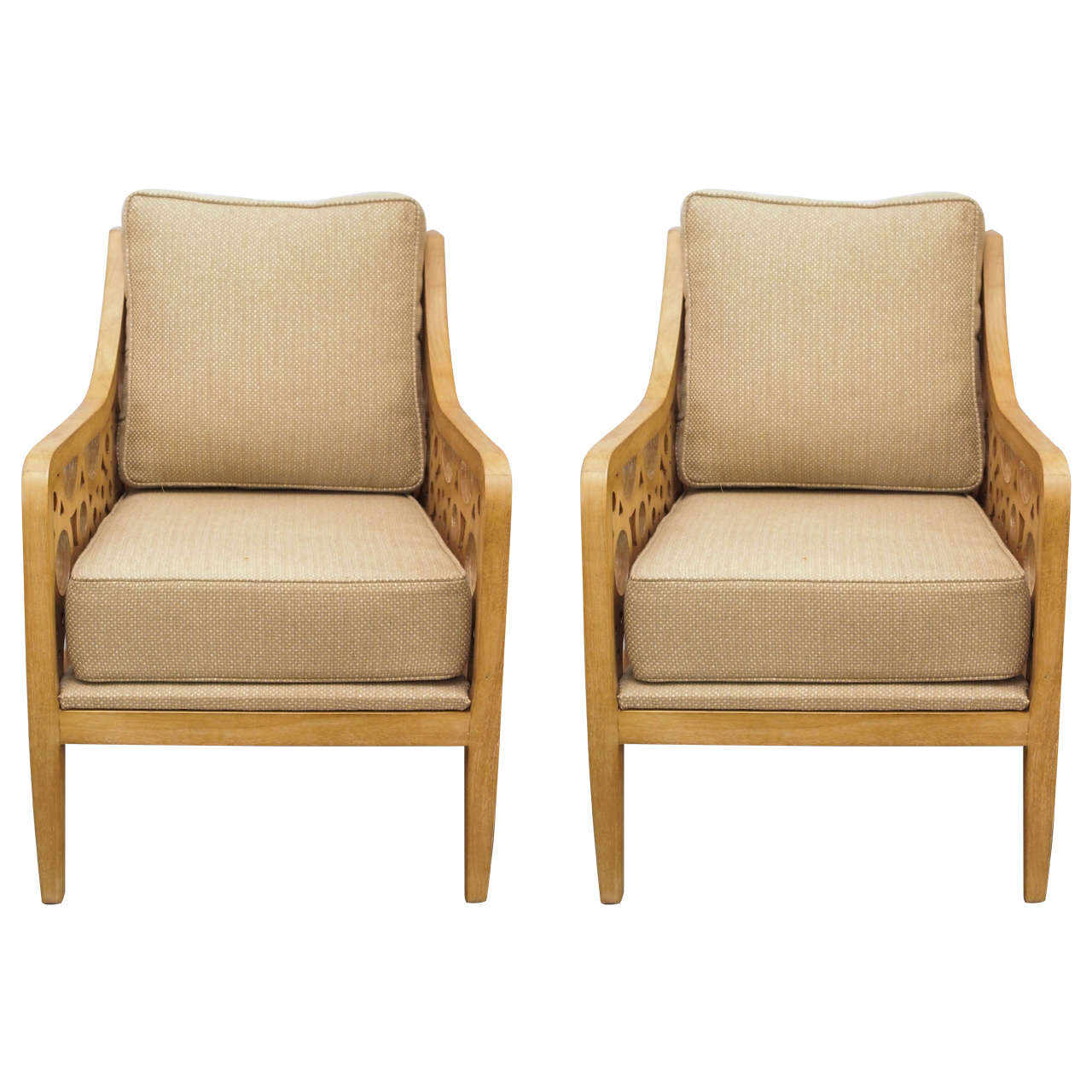 Pair of Mid-Century Modern Drexel Heritage Lounge Chairs at 1stdibs