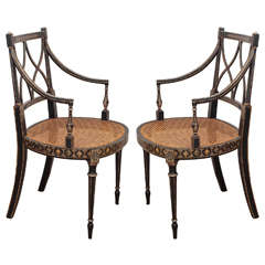 Pair of George III Regency Armchairs