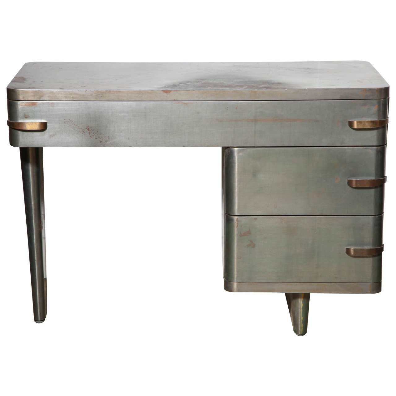 1940s Royal Chrome Machine Age Metal Desk At 1stdibs