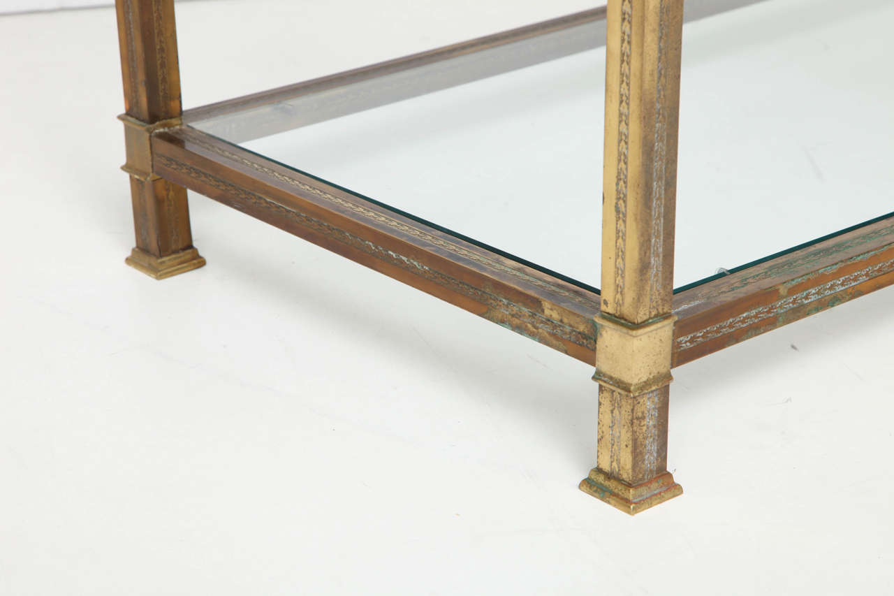Vintage Brass Console At 1stdibs