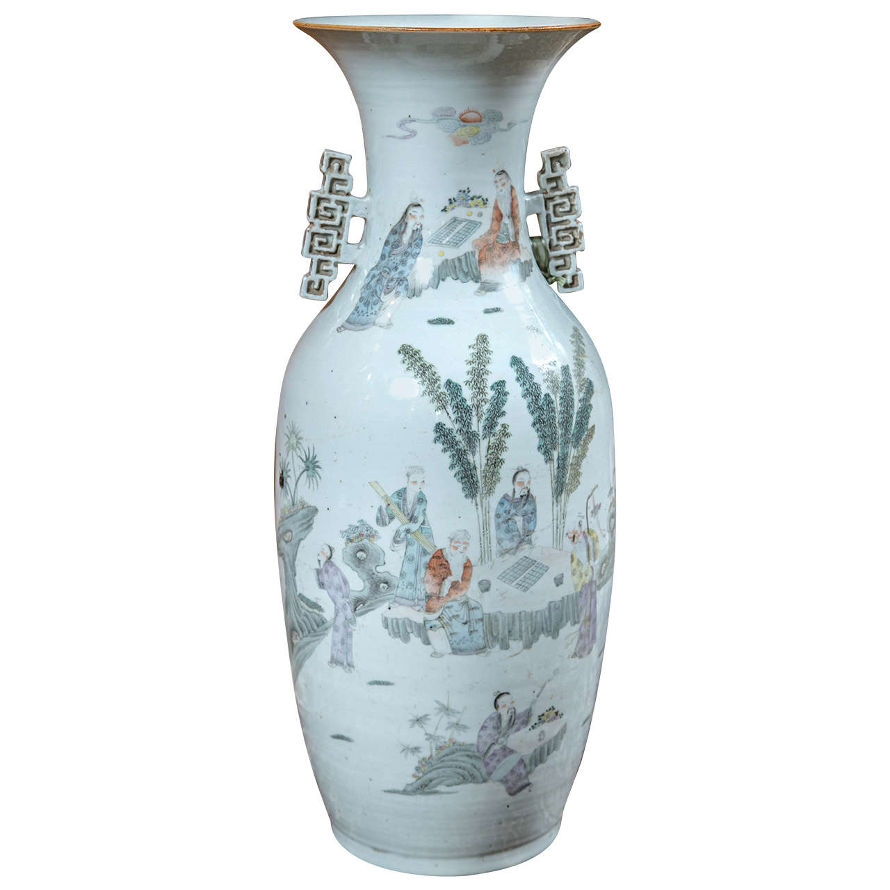 Chinese vase with handles at 1stdibs for Oriental vase and furniture