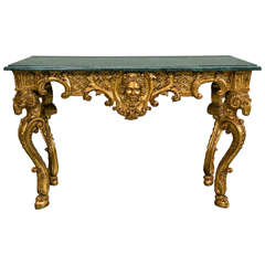Custom Carved and Gilded Console