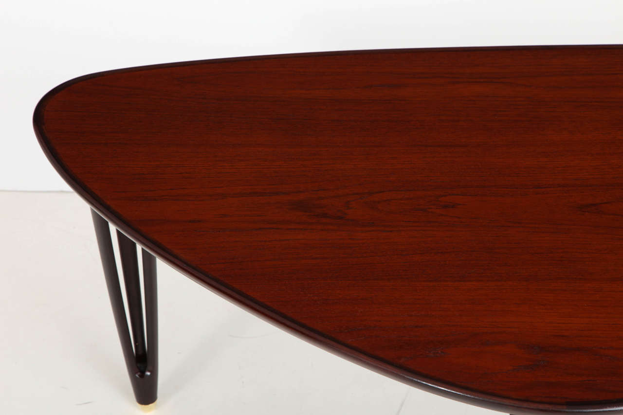 Sculptural danish modern teak coffee table for sale at 1stdibs Modern teak coffee table