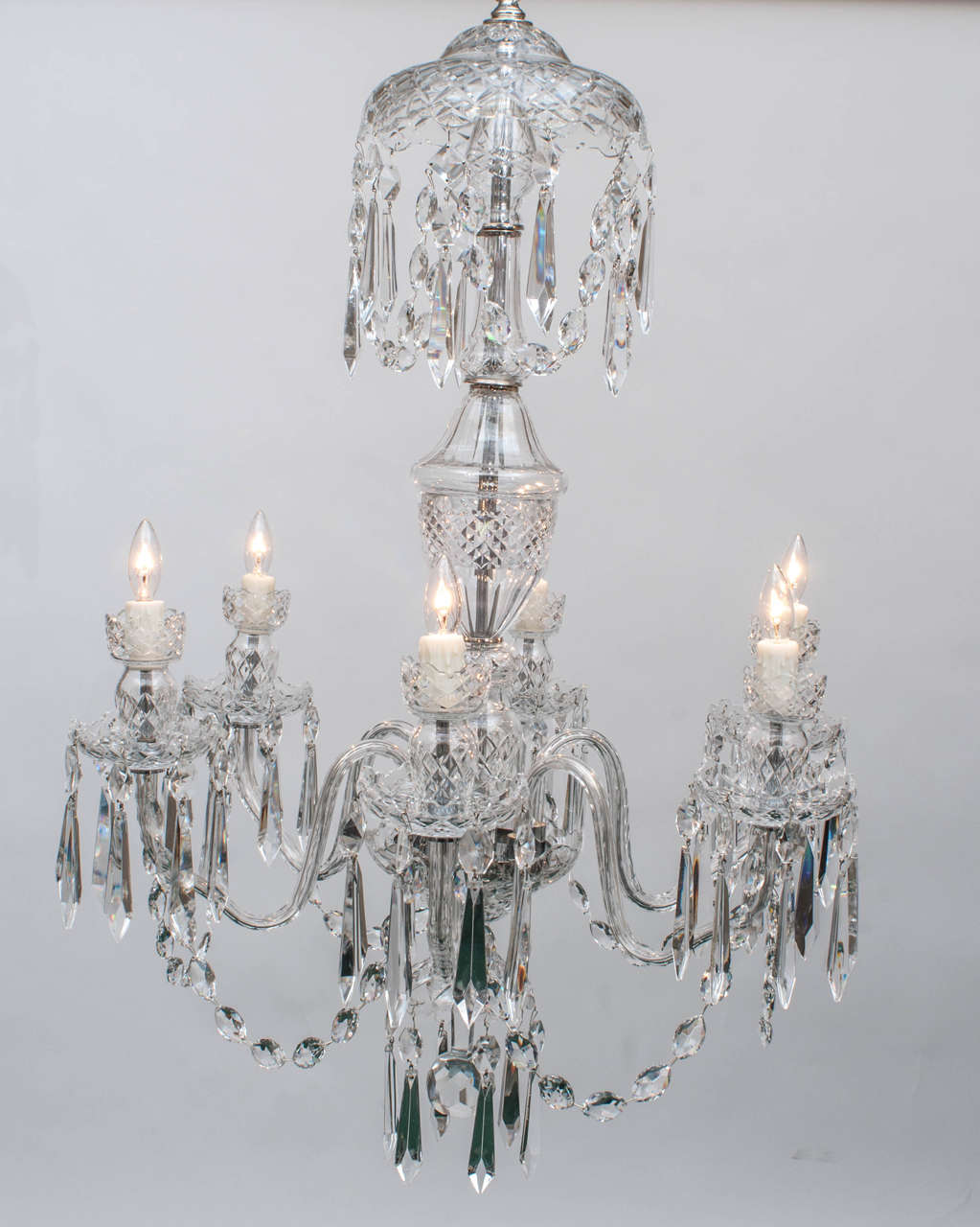 Waterford six light crystal chandelier circa 1970 for sale at 1stdibs waterford six light crystal chandelier circa 1970 2 arubaitofo Gallery