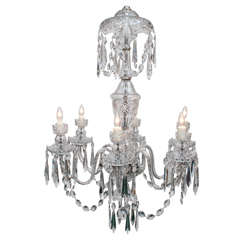 Waterford Six-Light Crystal Chandelier, circa 1970