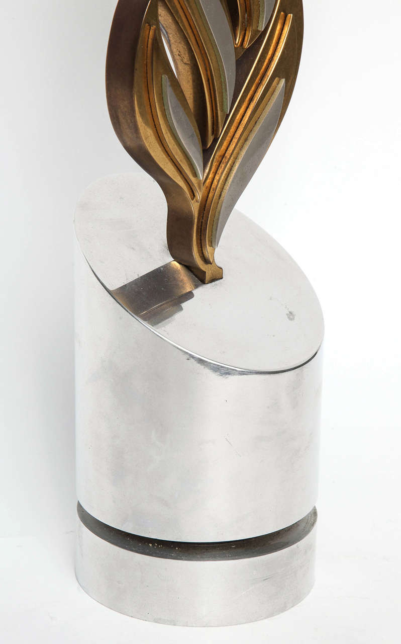 Mid-Century Modern Bronze and Aluminum Sculpture