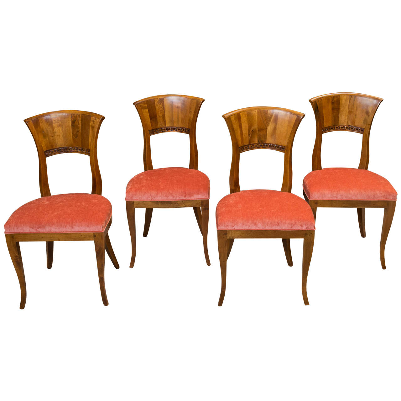 Set Of Four Biedermeier Style Side Chairs At 1stdibs