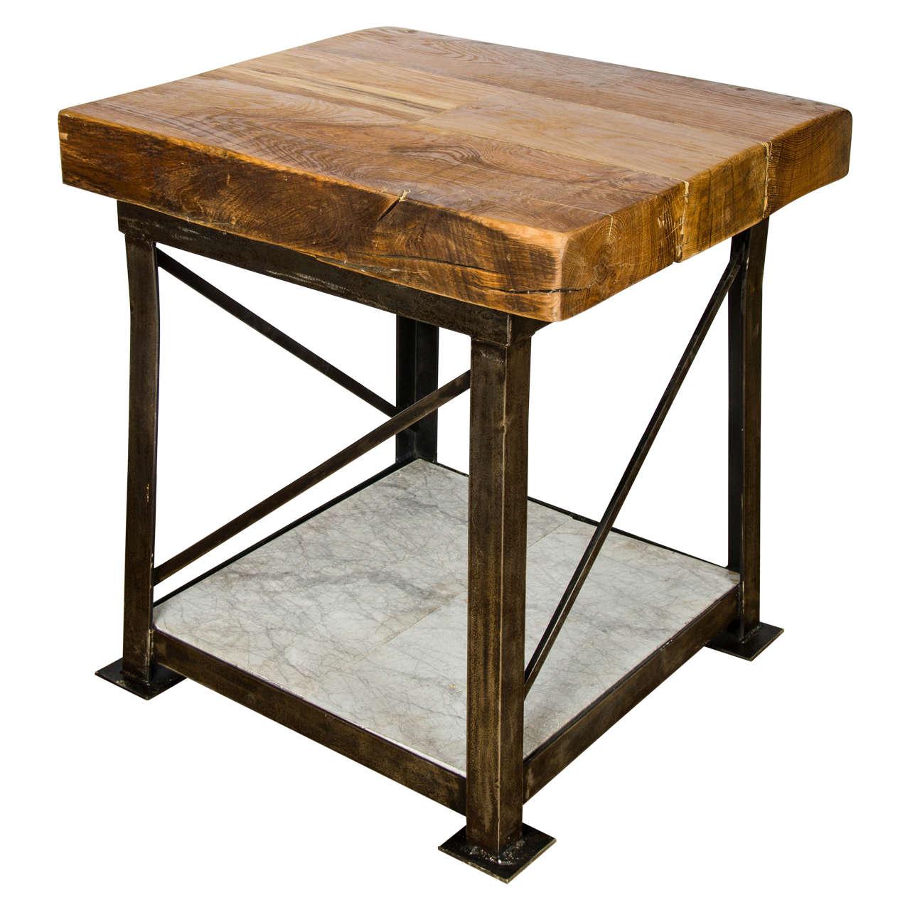 vintage butcher s block table at 1stdibs