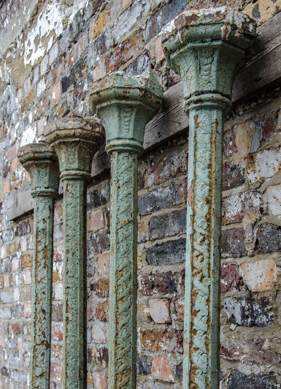 Cast Iron Columns : Set of four antique victorian cast iron columns at stdibs