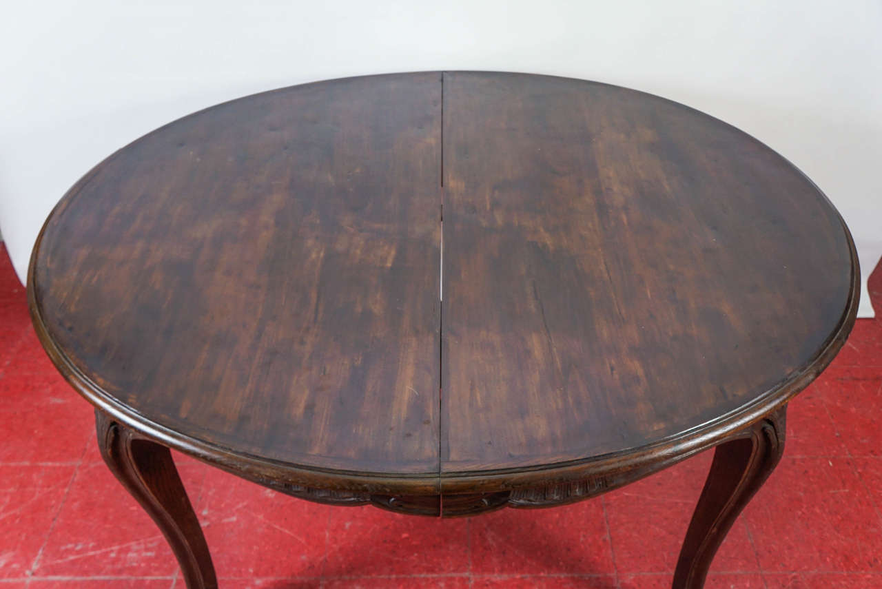 French Louis XV Style Oval Dining Table For Sale