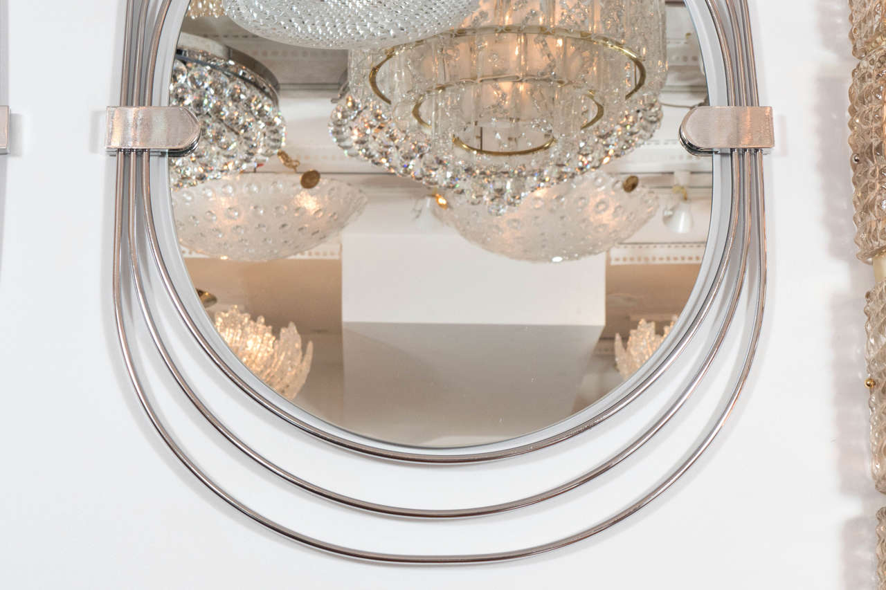 Polished Stainless Steel Mirrors In Good Condition For Sale In New York, NY