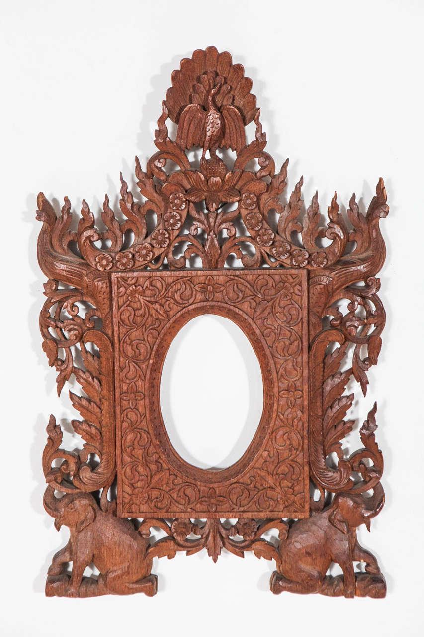 carved elephant indonesian frames 3 - Elephant Picture Frame