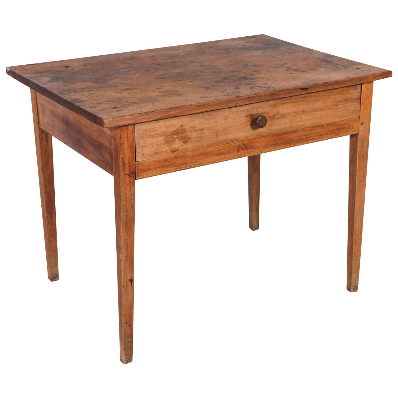 low rustic one drawer occasional table at 1stdibs