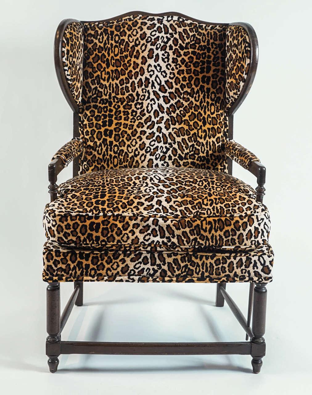 Leopard Print Wingback Chair 2  sc 1 st  1stDibs & Leopard Print Wingback Chair at 1stdibs islam-shia.org