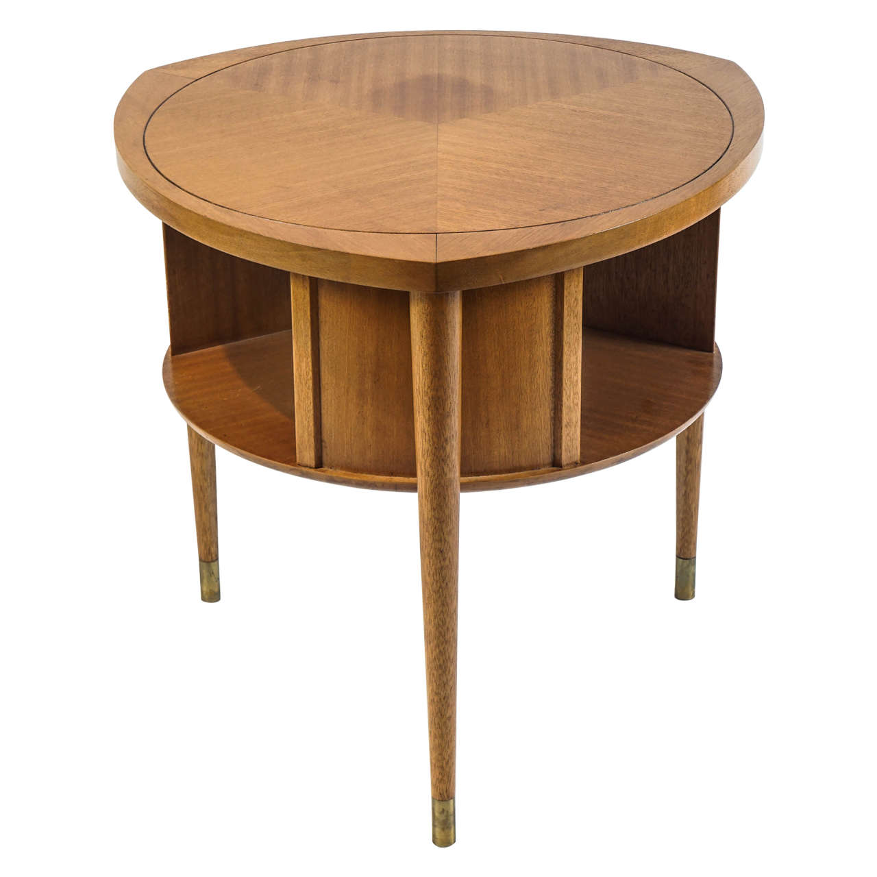 John keal for brown saltman table with rotating shelf at for Rotating dining table