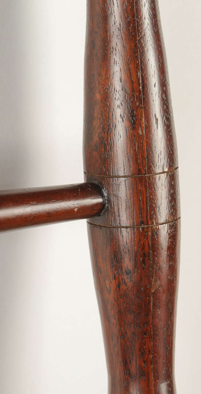 Rosewood And Leather Ladder By Abercrombie And Fitch At