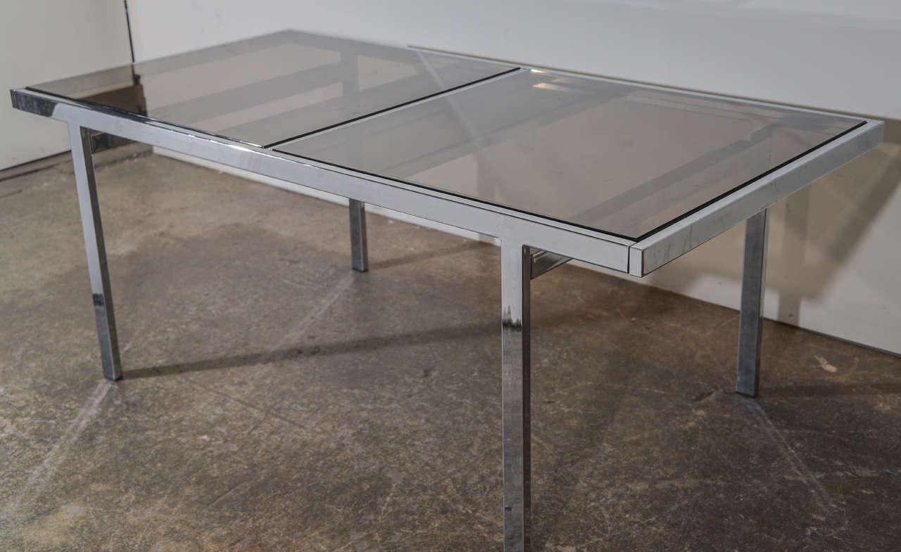 milo baughman chrome dining table at stdibs - milo baughman chrome dining table