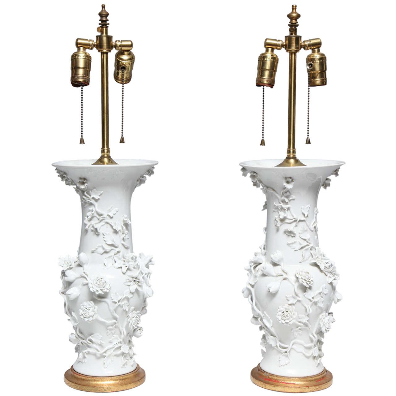 Pair Of Antique French Louis XVI Style Floral Paris