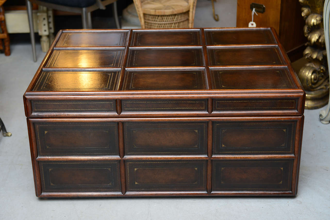Uncategorized Vintage Wood Trunk vintage wood and leather trunk by maitland smith at 1stdibs 3
