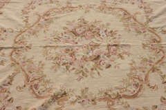 "Circa 1950's 9"" X 12"" French Needlepoint Aubusson Style Rug image 6"