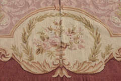"Circa 1950's 9"" X 12"" French Needlepoint Aubusson Style Rug image 7"
