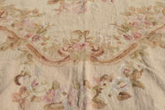 "Circa 1950's 9"" X 12"" French Needlepoint Aubusson Style Rug image 9"