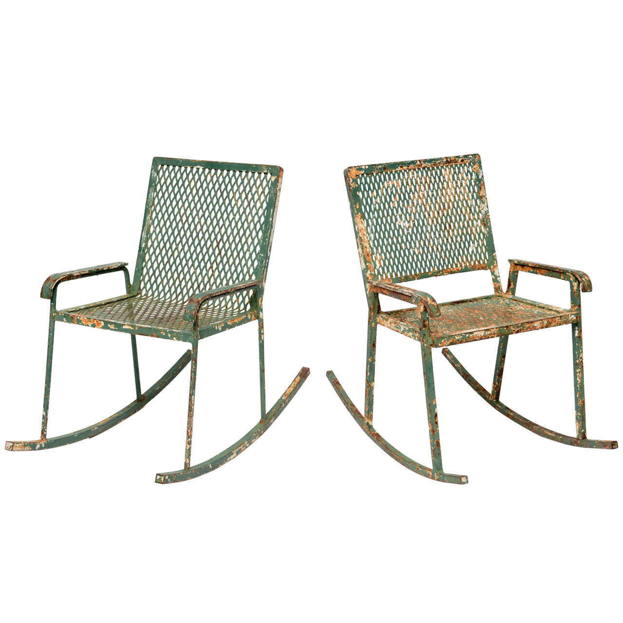 Red Rocking Chair Billy Strings ~ Pair of wrought iron children s rockers at stdibs