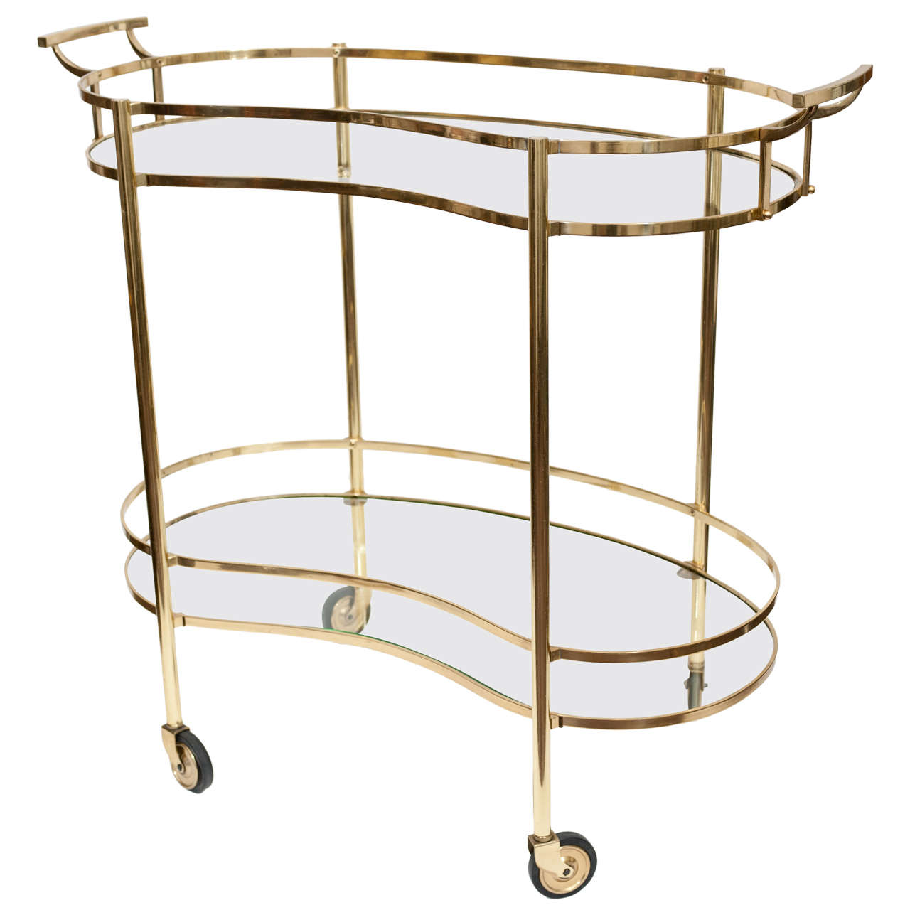 Art Deco Style Brass Bar Cart At 1stdibs