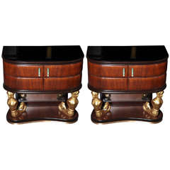 Pair of Night Tables by Dassi et Figli Made in Italy