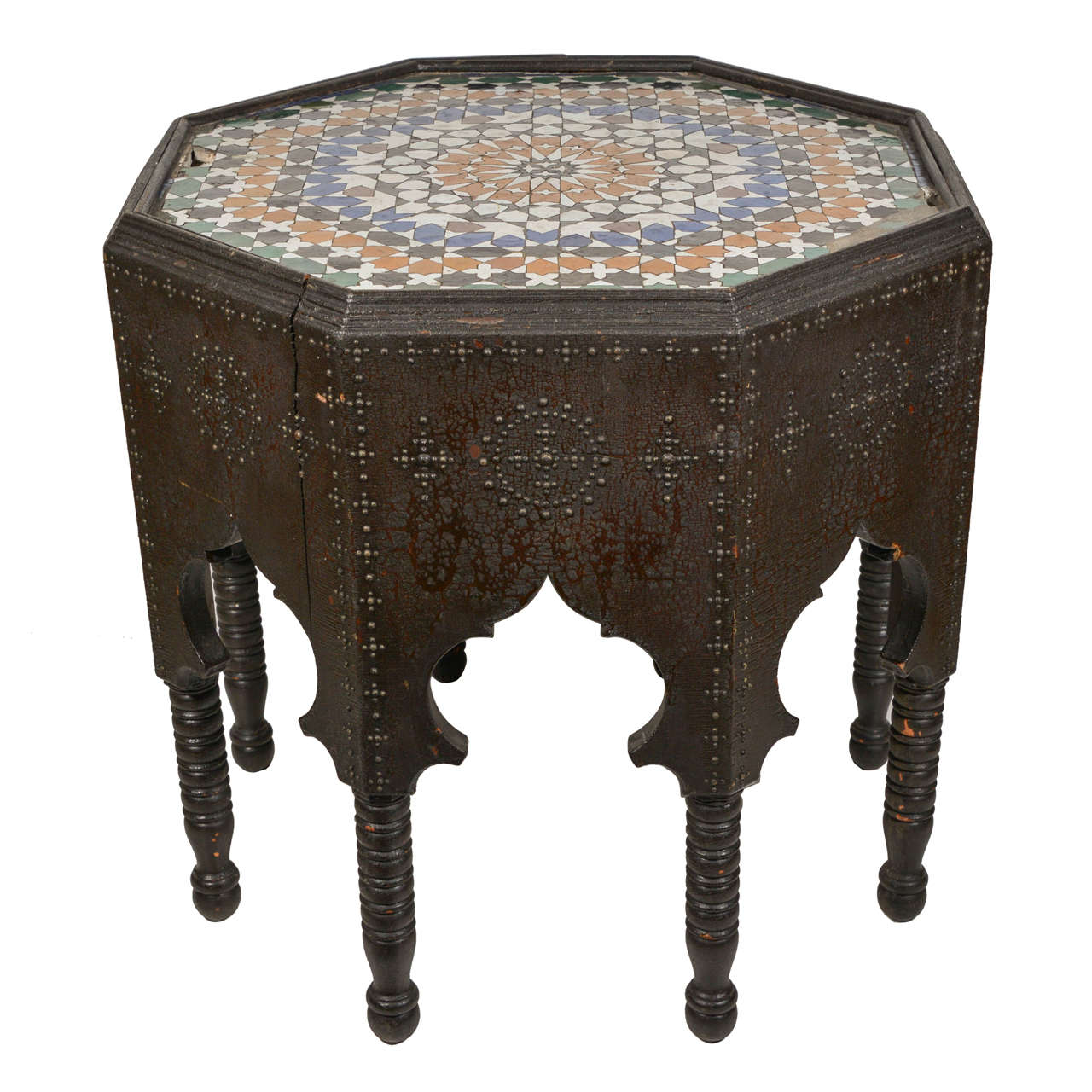 Octagon Side Table ~ Moorish style octagonal shaped end table for sale at stdibs
