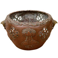 Rare German Art Nouveau Copper Planter
