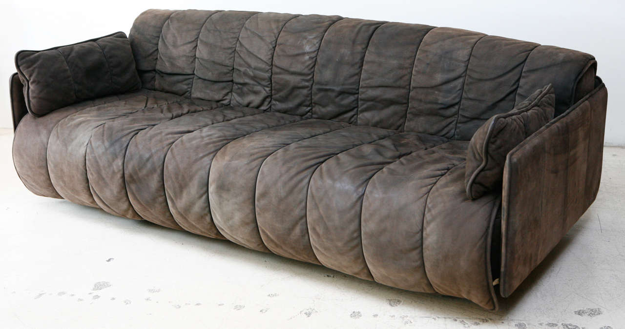 De Sede Convertible Leather Sofa at 1stdibs