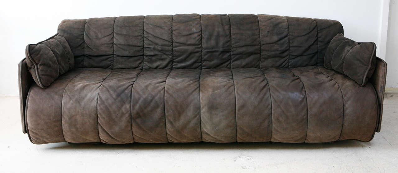 Swiss De Sede Convertible Leather Sofa