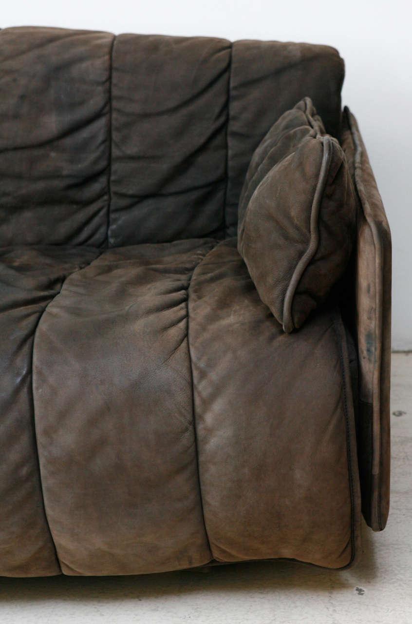 De Sede Convertible Leather Sofa In Excellent Condition In Los Angeles, CA
