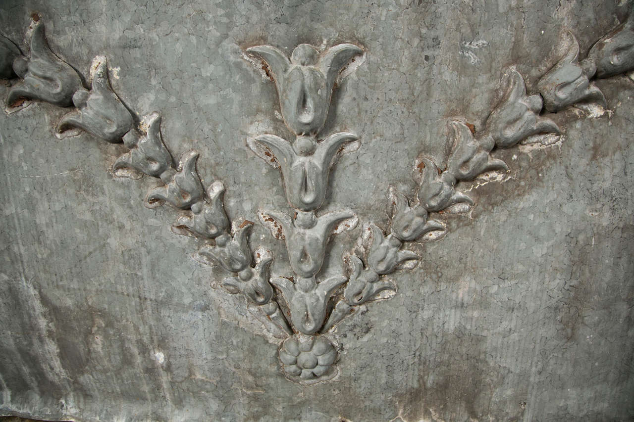 Zinc Over-Door Panel with Flower/Vine Decoration ca. 1880-1900 4