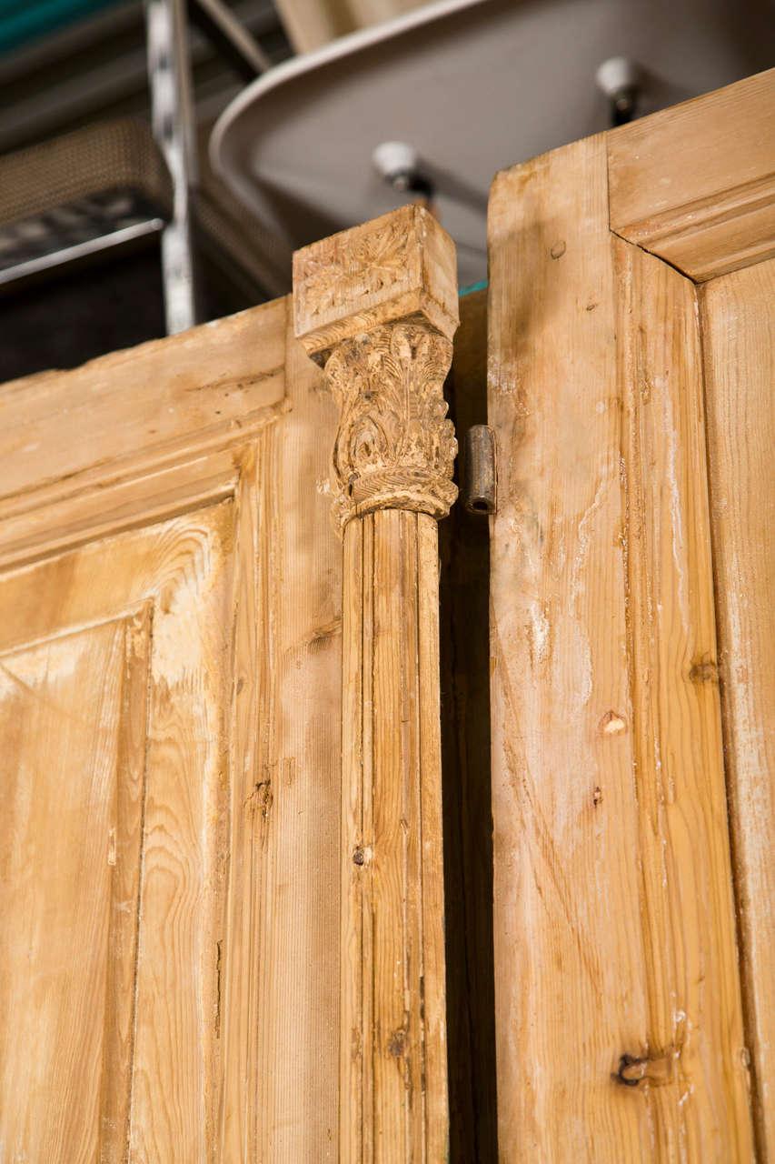 Pair of French Pine Doors 19th Century 2