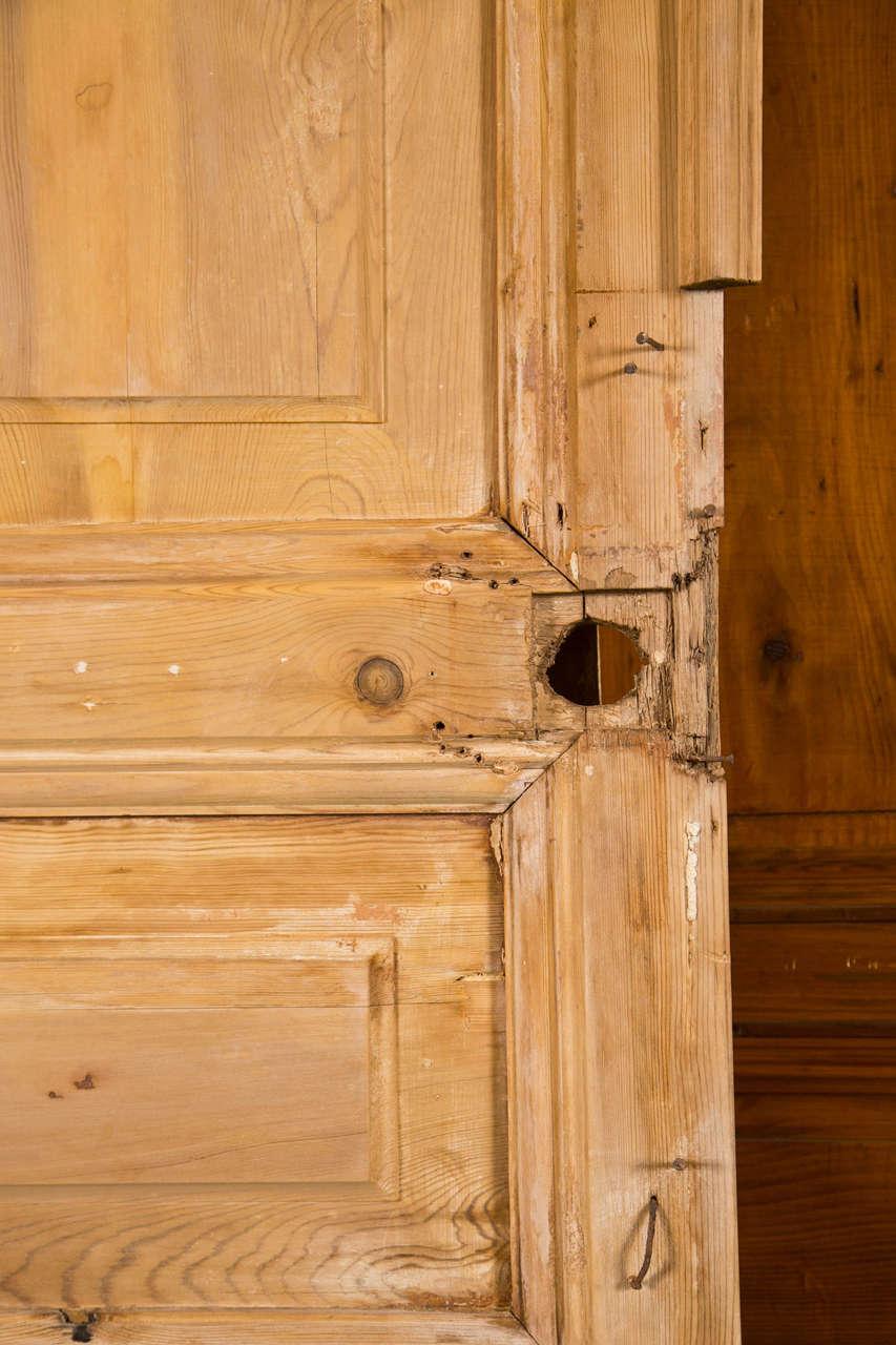 Pair of French Pine Doors 19th Century 3