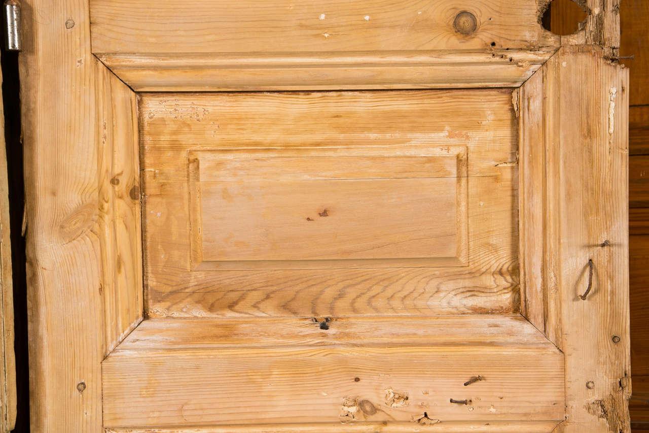 Pair of French Pine Doors 19th Century 4