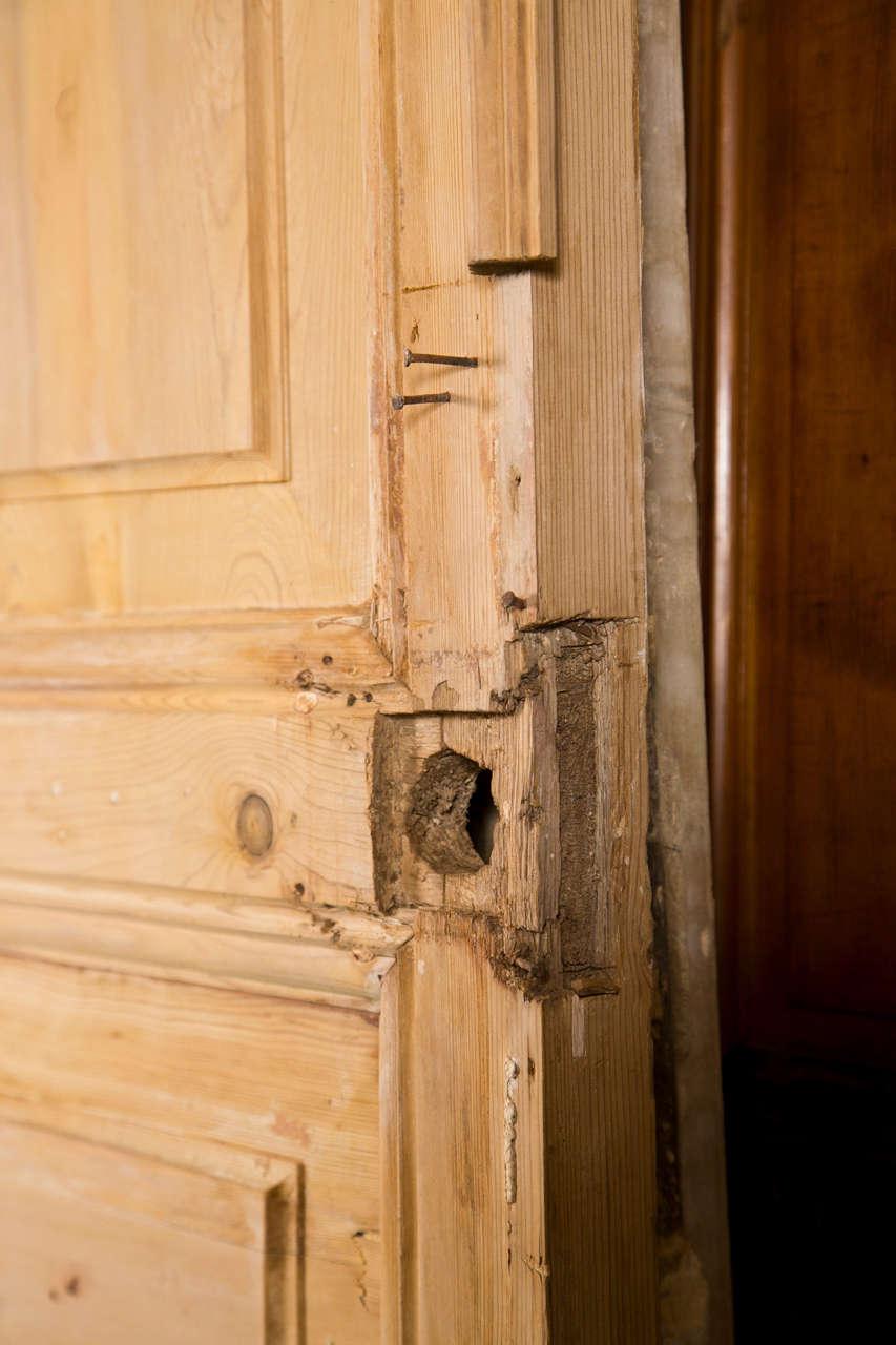 Pair of French Pine Doors 19th Century 6