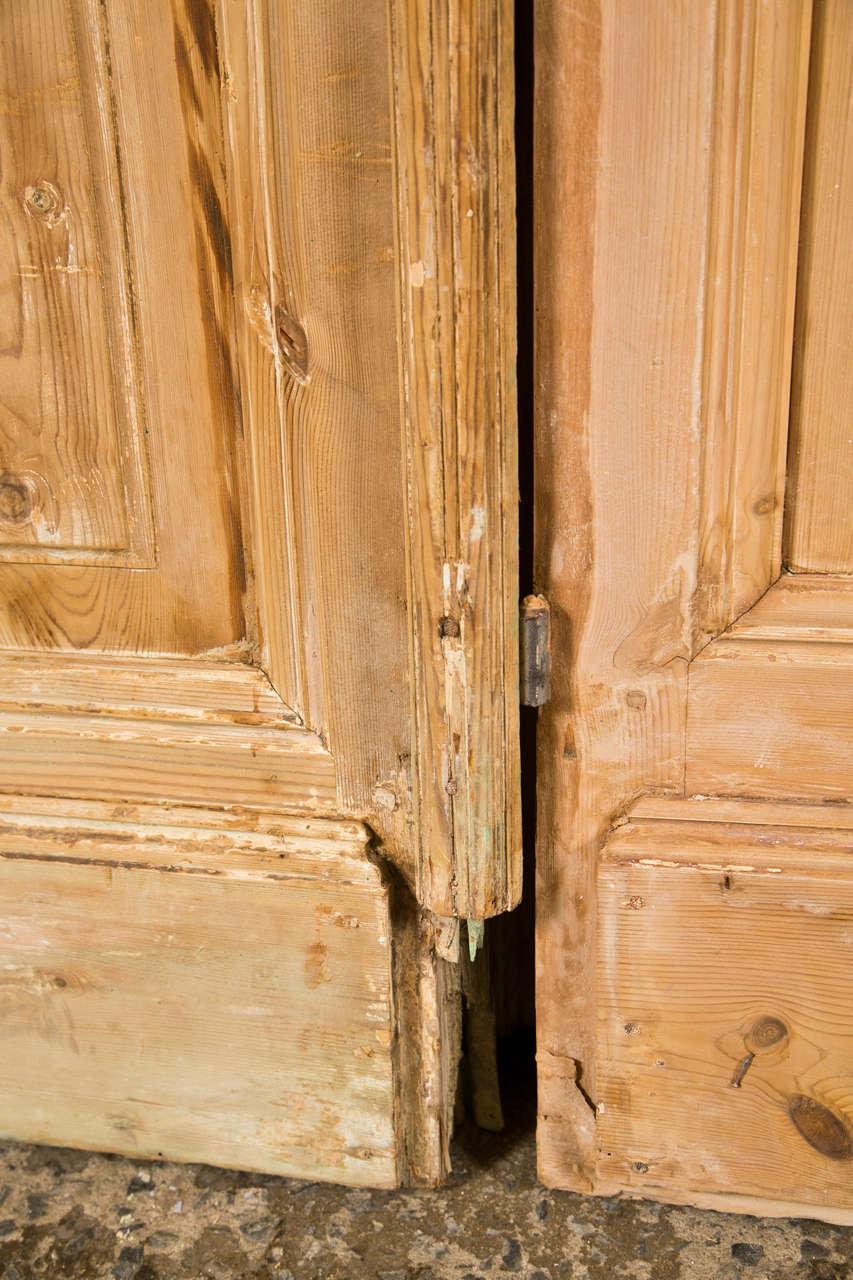 Pair of French Pine Doors 19th Century 7