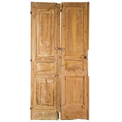 Pair of French Pine Doors 19th Century