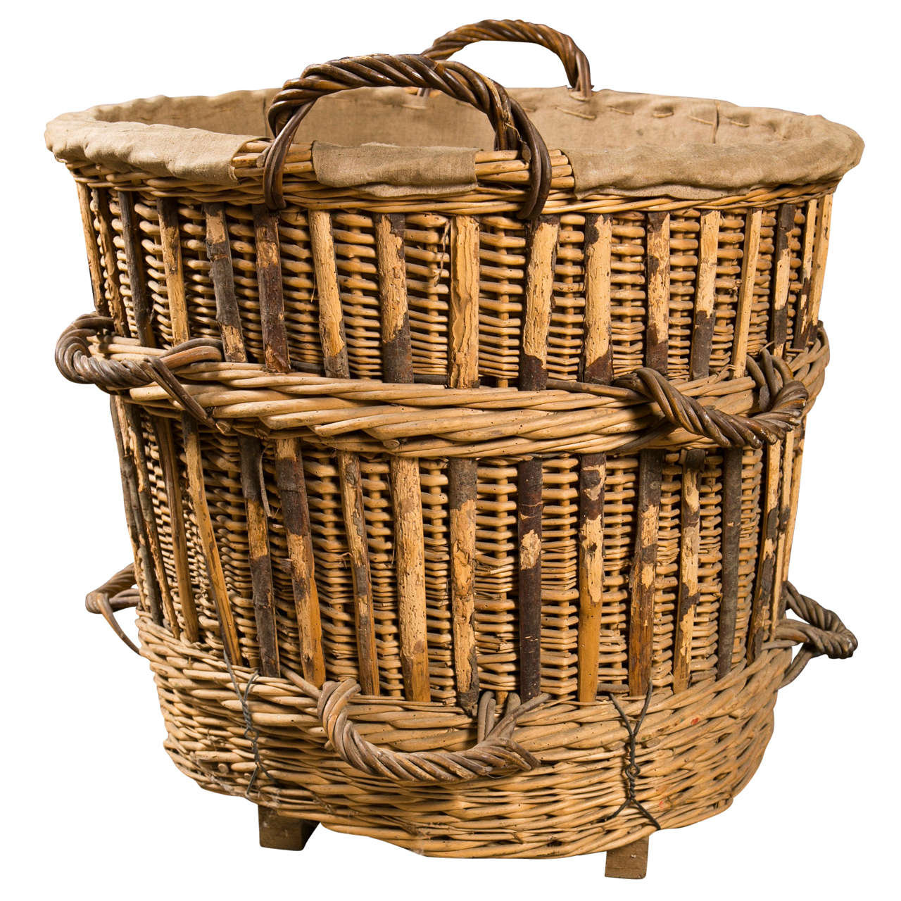french 19th c champagne basket at 1stdibs. Black Bedroom Furniture Sets. Home Design Ideas
