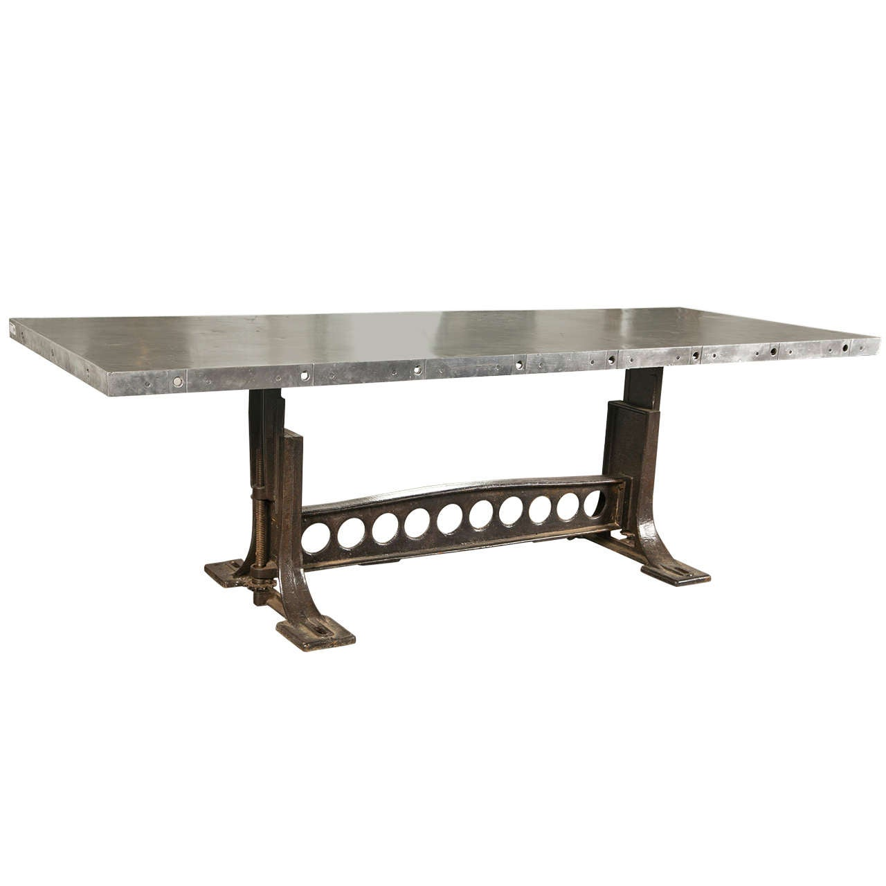 Industrial style dining table at 1stdibs for Styling a dining table