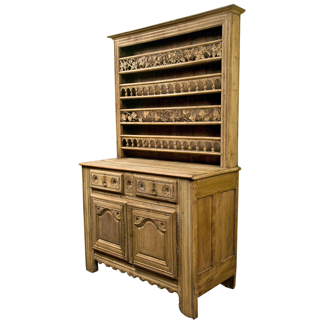 french bleached chestnut vaisselier circa 1850 1860 for. Black Bedroom Furniture Sets. Home Design Ideas