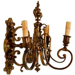Single Cast Brass French Sconce
