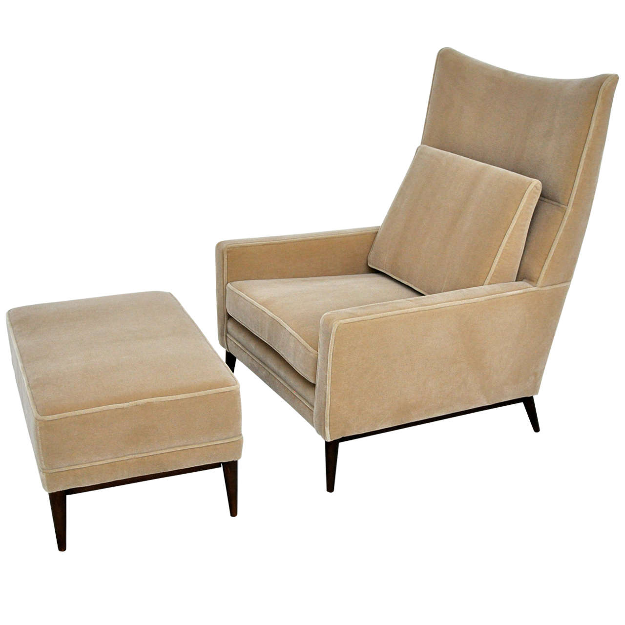 Paul McCobb Lounge Chair and Ottoman at 1stdibs