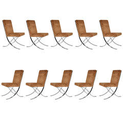 X-Base Chrome dining chairs